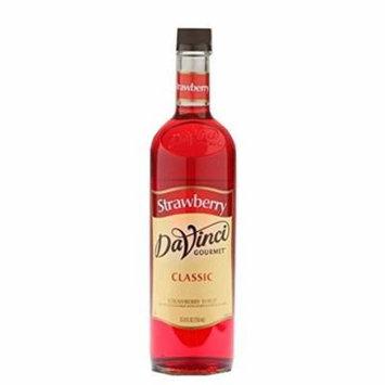 Da Vinci Classic Syrup, Strawberry, 750 mL (Glass)