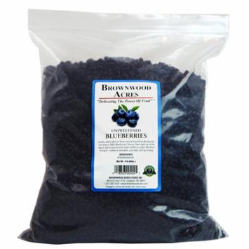 Unsweetened Dried Blueberries - 4 Pound Bag