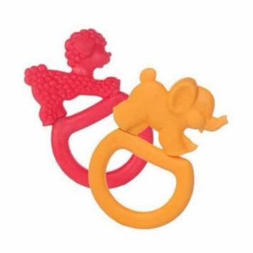 Vulli Vanilla Teething Rings 2-Pack - Red/Orange