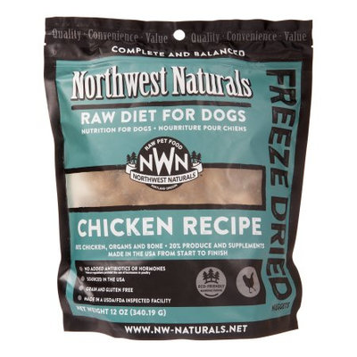 NW Naturals Nuggets Grain-Free Chicken Freeze Dried Dog Food, 12 Oz