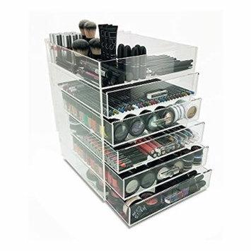 Modern Home 6 Tier Paris Acrylic Cosmetic/Makeup Organizer, Clear