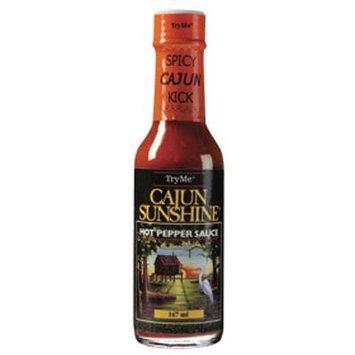 Tryme Cajun Sunshine Hot Pepper Sauce, 5 Ounce Bottles(pack of 12)