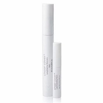 Sheer Cover Studio – Volumizing Mascara Duo – Lengthening Black Mascara – Lash Extending Fibers – 90 Day Supply/8.5 Milliliters