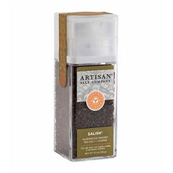 Salish® Alderwood Smoked Sea Salt - Coarse - Artisan Grinder Jar - 5.5 oz