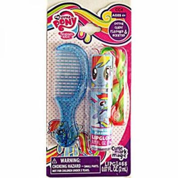 My Little Pony Lip Gloss Wand and Comb Set