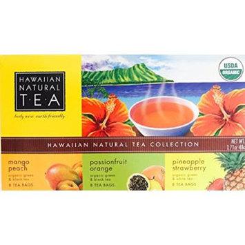 Organic Hawaiian Natural Tea (Tea Collection of Three Flavors, 24 Tea Bags)