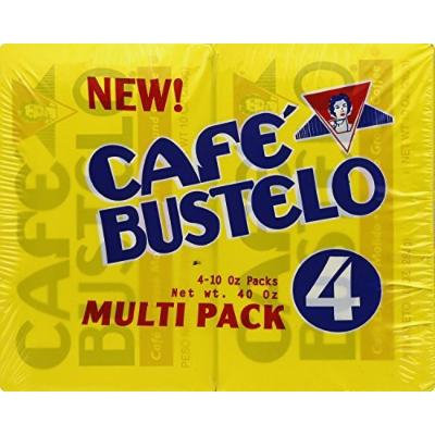 Cafe Bustelo Espresso Ground Coffee 10 oz Brick, Pack of 4