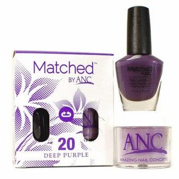 ANC m20 Amazing Nail Concepts Matched kit # 20 Deep Purple