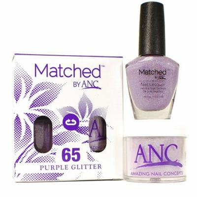 ANC m65 Amazing Nail Concepts Matched kit # 65 Purple Glitter