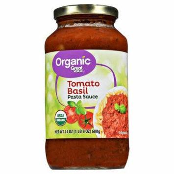 Great Value Organic Tomato Basil Pasta Sauce, 23.5 oz