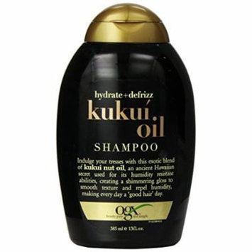 2 Pack Organix Hydrate + DeFrizz Kukui Oil Shampoo 13 Oz Each