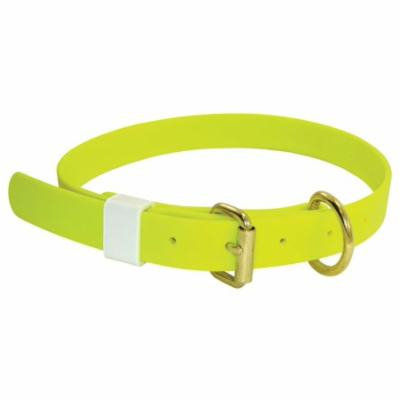 Lime Green Boithane Dog Collar 1-Inch Wide and Adjustable from 14 to 24 Inches