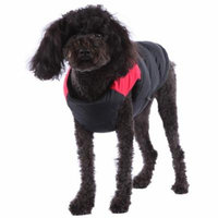 Water Rain Resistant Fleece Lined Zippered Padded Vest, Red,Small