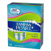 4 Pack Tampax Pearl Plastic Fresh Scent Tampons Super Absorbency 18 Tampons Each