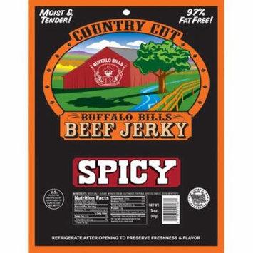 Buffalo Bills 3oz Spicy Country Cut Beef Jerky Pack (moist & tender spicy beef jerky)
