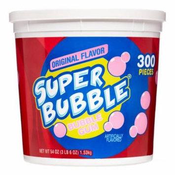 Super Bubble Bubble Gum, Original Tutti Fruitti Flavor, 54 Oz