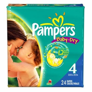 Baby Diaper Pampers Tab Closure Size 4 Disposable Heavy Absorbency-Package of 24