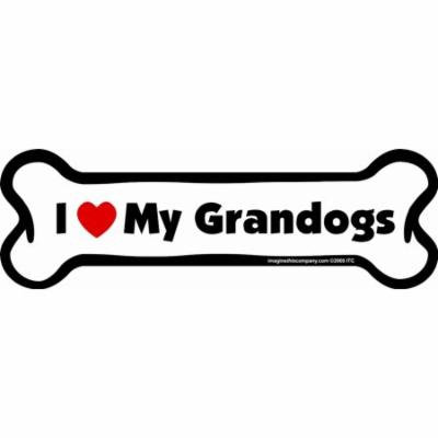 I Love My Granddogs Bone Magnet Dog 2