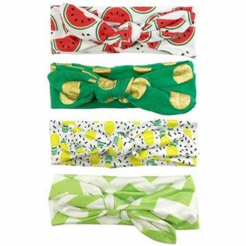 Wrapables® Girls Boho Knotted Headband Headwrap (Set of 4), Fruity