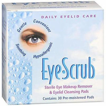 Eye Scrub Sterile Eye Makeup Remover - Eyelid Cleansing Pads 30 Each
