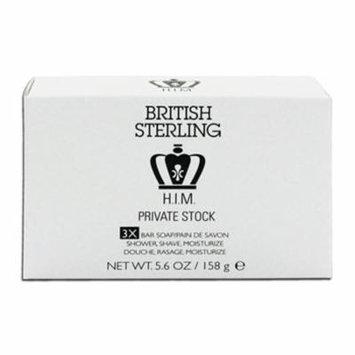 British Sterling H.I.M. Private Stock Bar Soap 5.6 oz