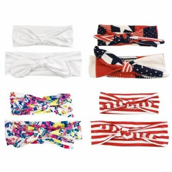 Wrapables® Mommy and Me Boho Headband Headwrap, Red White and Blue