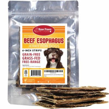 Eager Paws Premium All-Natural 6-inch Beef Jerky for Dogs, 8-ounce - Esophagus Dog Treats - Grain & Gluten Free - High Chondroitin Dog Treats