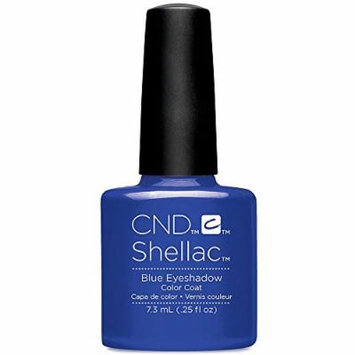 CND Shellac Nail Polish blue eyeshadow