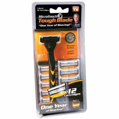 As Seen On TV MicroTouch 3 Tough Blade Razor with 12 Refill Cartridges 1 ea (Pack of 6)