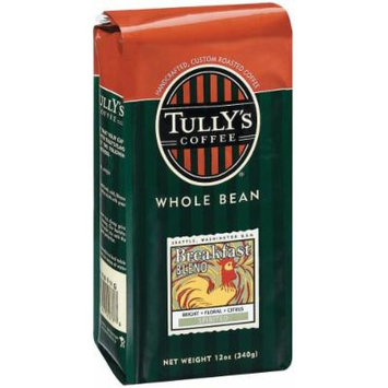 Tully's Coffee Breakfast Blend, Whole Bean , 12 Ounce Bags (Pack of 3)