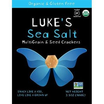 Luke's Organic Sea Salt Crackers, 3.5 Ounce (Pack of 6)