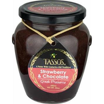 Tassos Strawberry And Chocolate Greek Preserve (25oz) (1 Jar)