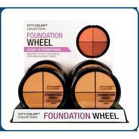 City Color B-0050 F-0059A T-0002 Foundation Wheel Medium with Flat Top Sponge