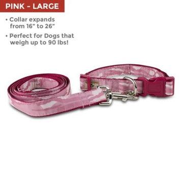 Mossy Oak Collar & Lead Set, Pink, Large