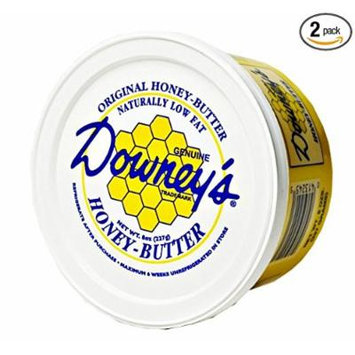 Downey's Natural Honey Butter Variety Pack, Original and Cinnamon Flavors, 8 Oz. Tubs (Pack of 12)