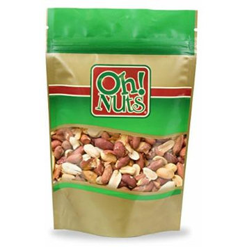 Peanuts Large Dry Roasted and Salted, Jumbo Redskin Peanuts Finely Baked in Small Batches No Added Oils - Oh! Nuts (2 LB Dry Roasted Salted Peanuts)