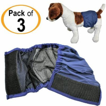 PACK - 3pcs WASHABLE Dog MALE Diaper Belly Band Lined WITH ABSORBENT PAD Reusable Small Medium Large Breeds sz XX-Large (waist: 18