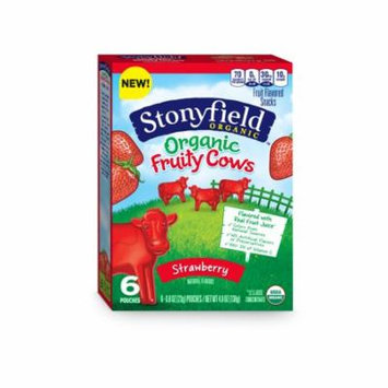Stonyfield Organic Fruit Snacks, Strawberry, 0.8 Ounce Bag, Pack of 6