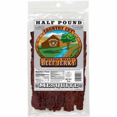 Buffalo Bills 8oz Mesquite Country Cut Beef Jerky Pack (moist & tender mesquite smoked beef jerky)