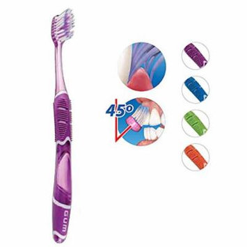 GUM 524 Technique Deep Clean Toothbrush - Full Soft Head (6 Pack) by Sunstar