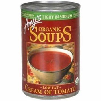 Amy's Organic Soups Low Fat Cream of Tomato Soup, 14.5 oz, (Pack of 12)