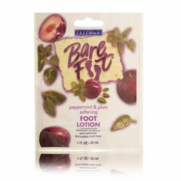 Freeman Bare Foot Peppermint & Plum Softening Foot Lotion 30ml/1oz