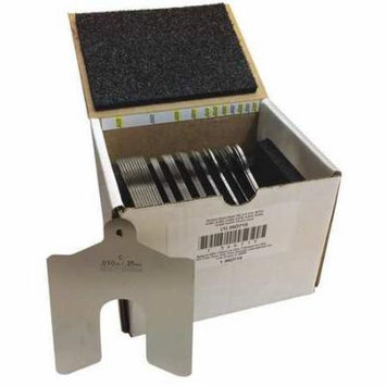 Slotted Shim Asst,SS,4 x 4 In,80 PC 36D715