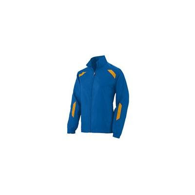 Augusta Ladies Water Resistant Micro Polyester Jacket - ROYAL/ GOLD - XS 3502