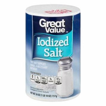 Great Value Iodized Salt, 26 oz