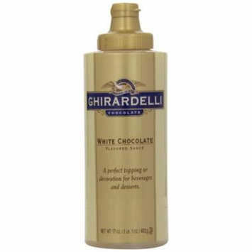 Ghirardelli White Chocolate Flavored Sauce, 17 Ounce Bottles