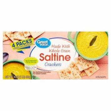 Great Value Whole Grain Saltine Crackers, 16 oz, 4 Count