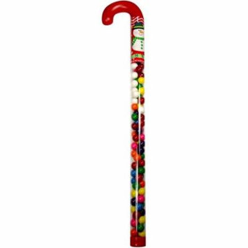 Gumball Filled Jumbo Candy Cane, 16 oz