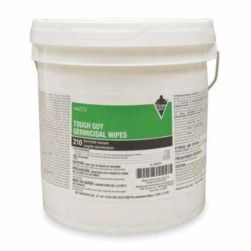 TOUGH GUY Antimicrobial Disinfecting Wipes,Bucket 4AZT3