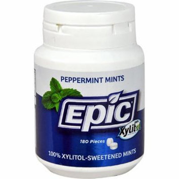 Epic Dental Xylitol Sweetened Mints Peppermint -- 180 Pieces pack of 6